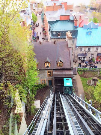 Upper Town (Haute-Ville): Funicular between Upper and Lower Town