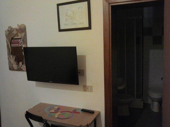 Helvetia : TV + bathroom
