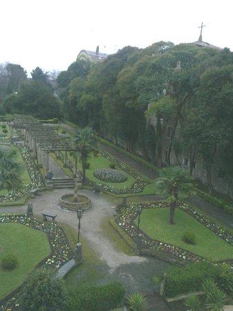 NH Collection Palacio de Aviles: window view of the garden