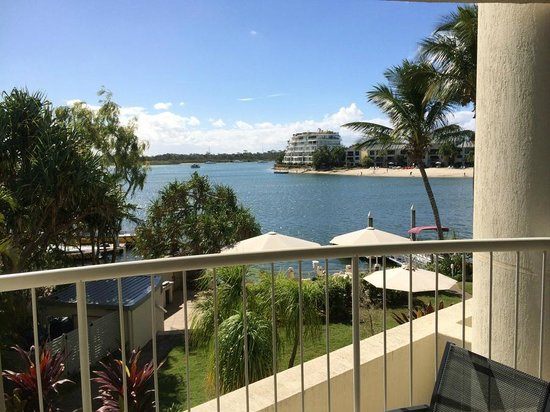 Noosa Pacific Riverfront Resort: view from balcony 2BR waterfront (2nd floor)