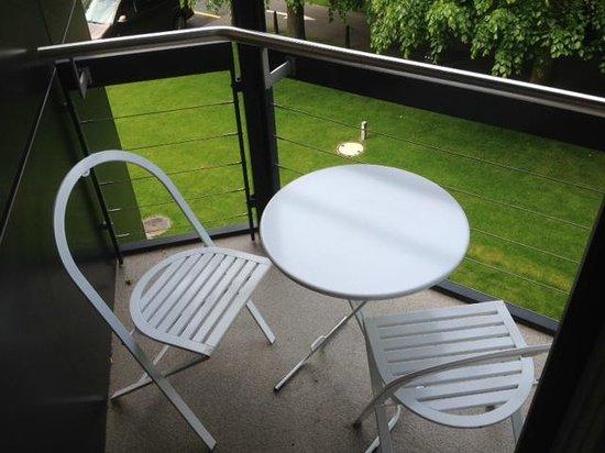 Congress Hotel Seepark : Le petit balcon très agréable.
