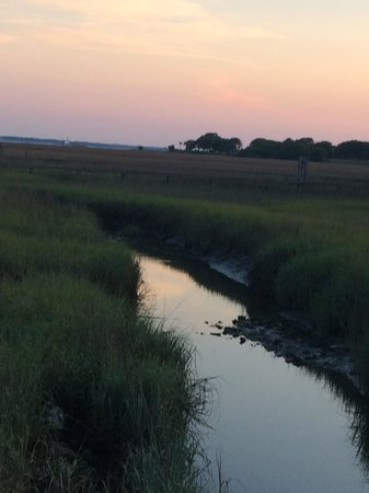 Shem Creek Inn: View of the Salt Water Marshes at Sunset from the walking path