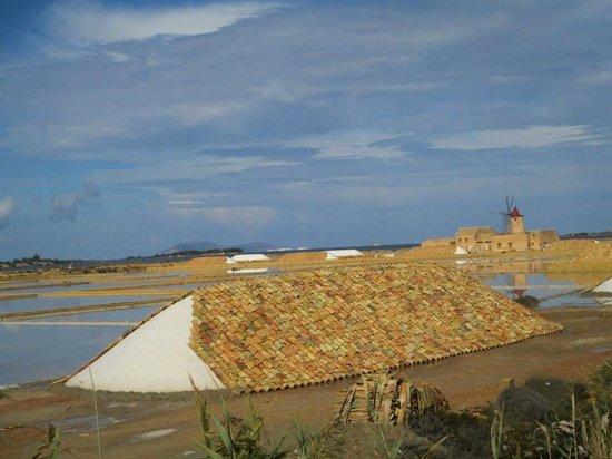 """Isola di Mozia (Mothia)/ San Pantaleo: Il sale matura sotto i """"coppi"""" di terracotta"""