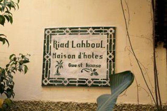 Riad Lahboul : Ved indgangsdøren