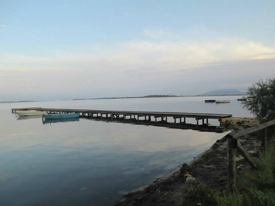 Isola di Mozia (Mothia)/ San Pantaleo : I pontili sullo Stagnone di Marsala