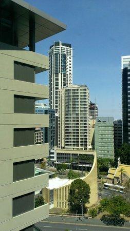 Novotel Brisbane: We love the window views