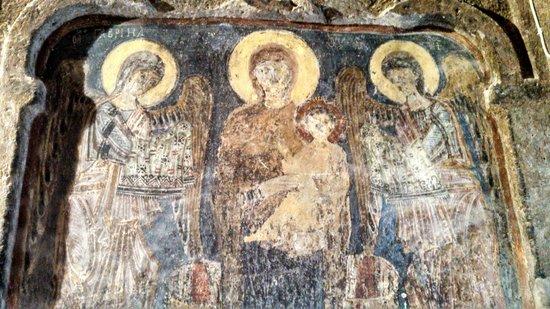 Eski Gumusler Monastery: Frescoes, Armenian with Greek touches