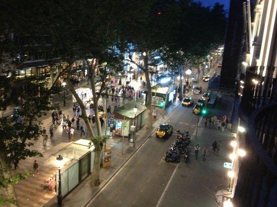 Hotel SERHS Rivoli Rambla : View from balcony