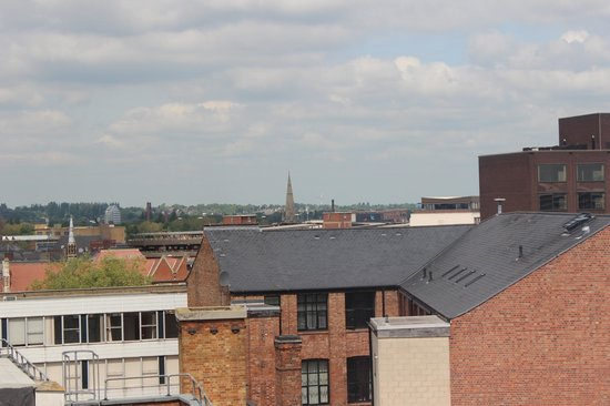 Ramada Encore Leicester City Centre : View of Leicester Cathedral spire from 6th floor room