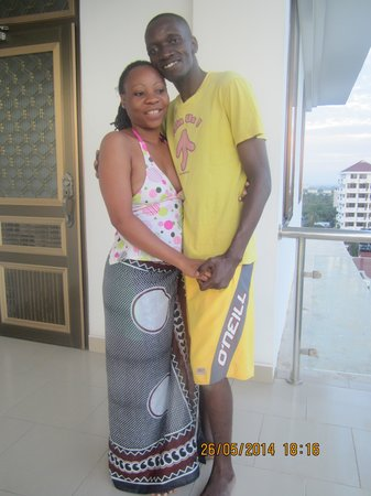 Royal Kibadamo Hotel: my wife and i at the terrace