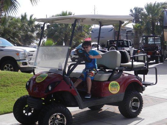 Gulf Waters Beach Front RV Resort: Gulf Cart Rental was a blast