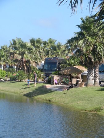 Gulf Waters Beach Front RV Resort: Wonderful View from Site