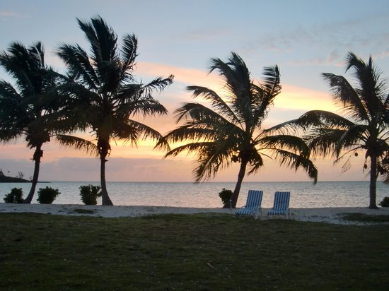 Swain's Cay Lodge : View from outside our room.