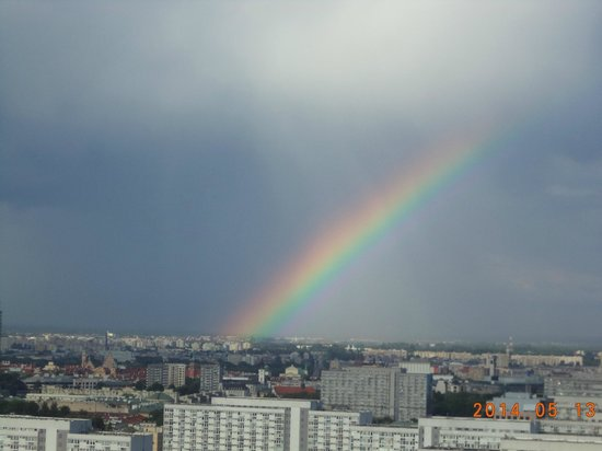 Hilton Warsaw Hotel & Convention Centre : Rainbow taken from the suite