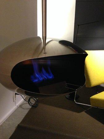 Hotel Americano: Un feu de cheminée bien apprécié...