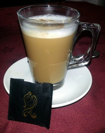 Lovely latte & After Eight mints :-)