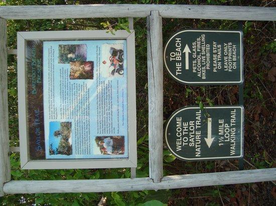 Barefoot Beach Preserve: Park Sign