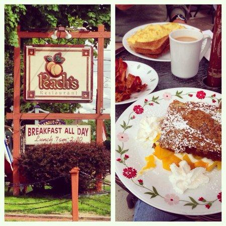 Peach's: Our breakfast!