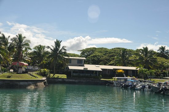 Vuda Point Marina Fiji: The office, Fuel wharf,Coffee Shop , General Store & Chandler