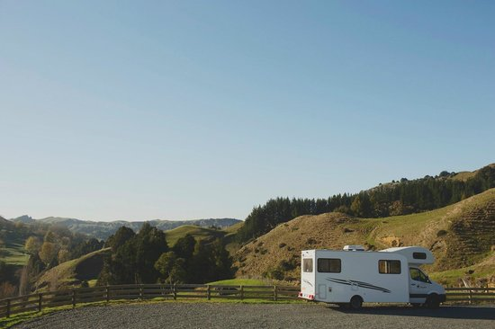 Hairy Feet Scenic Film Location Tour Waitomo: our camper van