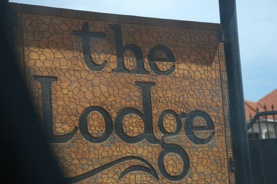 The Lodge: Hotel sign