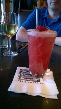 Etta's Seafood : Strawberry Basil drink