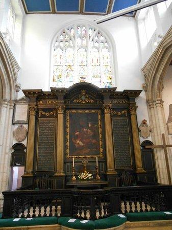 Church of St. Michael le Belfrey: Exhibit inside the church