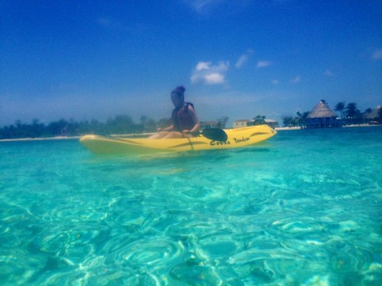 Blackbird Caye Resort: Kayaking