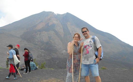 At the top of Pacaya volcano