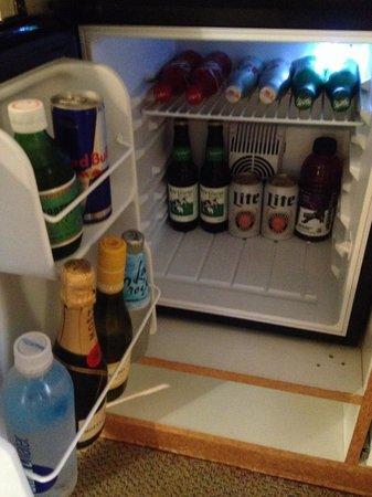 Hotel Metro: Stocked fridge.