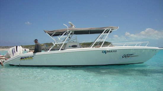 007 Boat w Captain Ray - Picture of Exuma Water Sports, Great Exuma