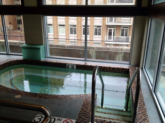 Hotel Metro: Whirlpool with water fall. Across from sauna and fitness.