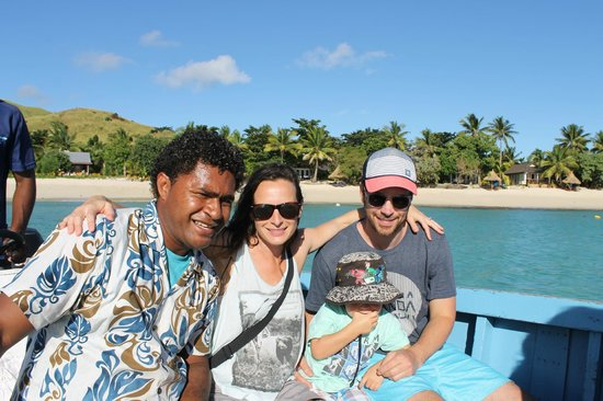 Blue Lagoon Beach Resort: A trip on the blue, wooden boat with Nelson!