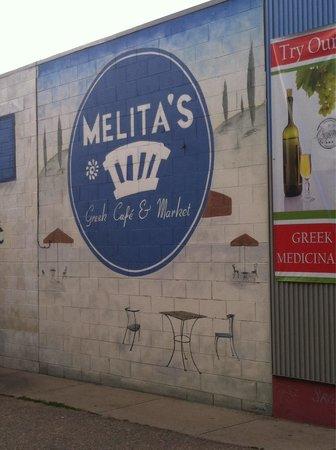 Melita's Greek Cafe and Market: Parking lot