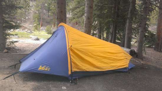 Aspenglen Campground, Rocky Mountain National Park: Tent in Site C