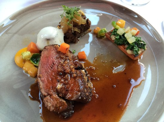 Blue Lagoon Restaurant : Main course of the Nordic Chef of the Year menu