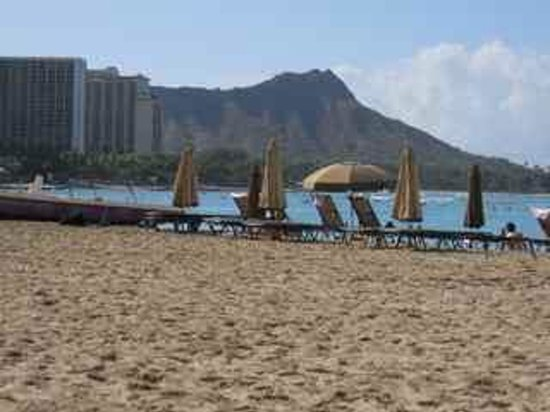 The Royal Hawaiian, a Luxury Collection Resort : Beach in Front of Hotel