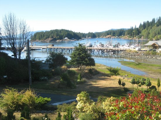 Quathiaski Cove, August- the view from Whiskey Point Resort