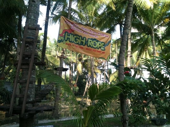 Lorin Solo Hotel: an obstacle course of ropes!