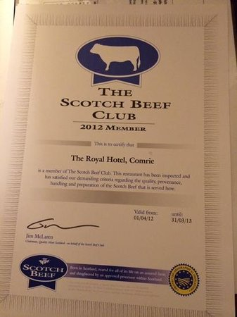The Royal Hotel: Beef Club Member