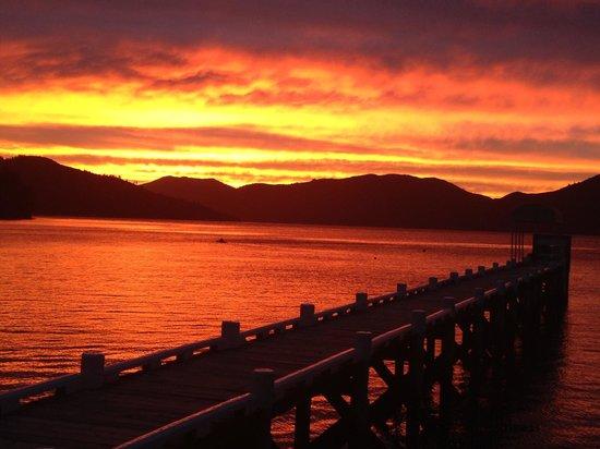Raetihi Lodge: Sunrise in March... Beautiful!