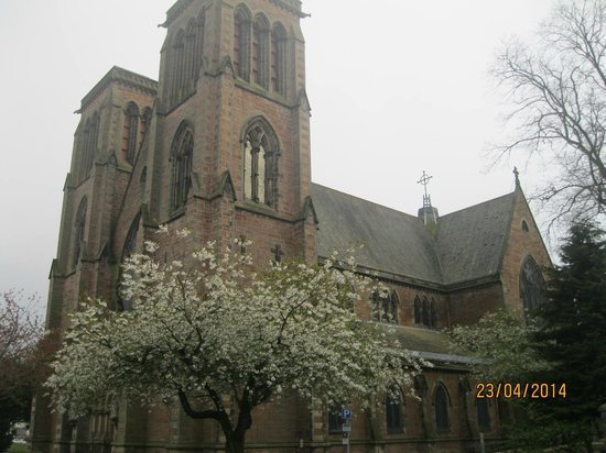 Inverness Cathedral: Another blossoming tree outside the Cathedral