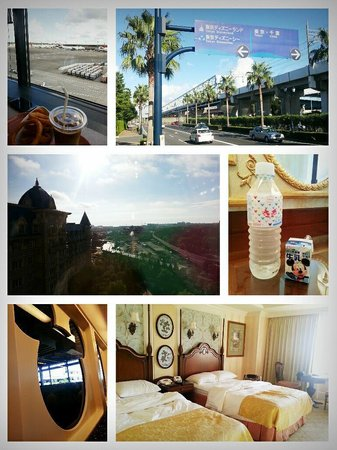 Tokyo Disneyland Hotel : Interior and the view from the room