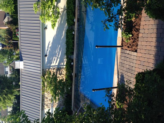 The Inn at Leola Village: view of pool from room