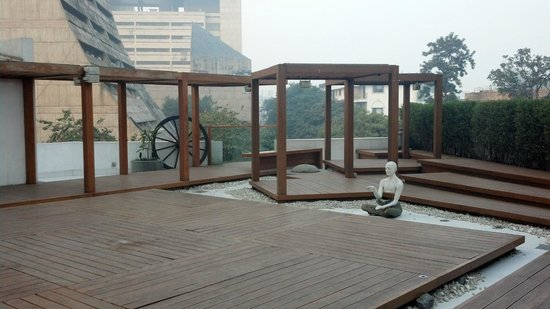 The Park New Delhi: The Yoga Patio (on the roof of the 1st floor)