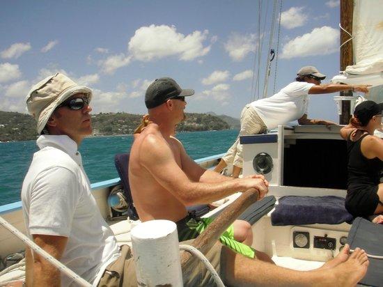 Jus' Sail : Driving the Boat