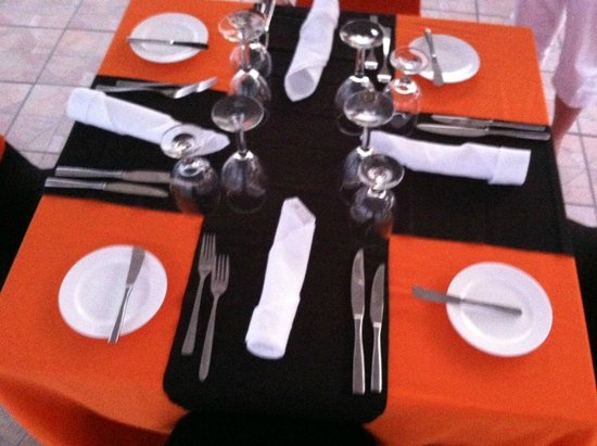 Sonesta Maho Beach Resort, Casino & Spa: Table setting for our private dinner in the gazebo. SO special!