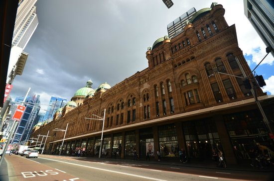Queen Victoria Building (QVB): View from Market Street