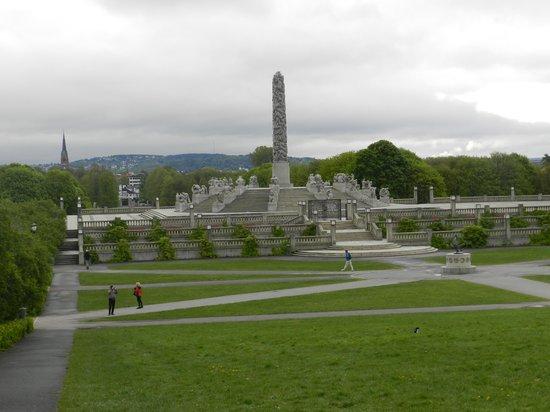 Oslo, Norway: Linda vista do parque de outro angulo