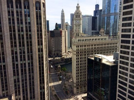 InterContinental Chicago Magnificent Mile: view from room 2505